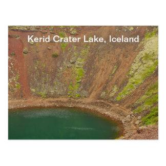 Postal de Islandia del cráter de Kerid