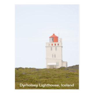 Postal de Islandia del faro de Dyrholaey