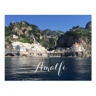 Postal de Italia de la costa de Amalfi