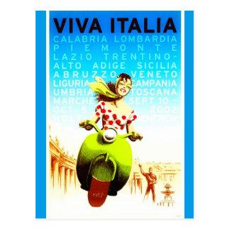 Postal de Italia del vintage