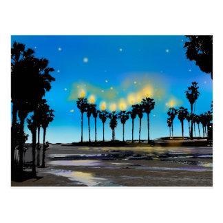Postal de Jánuca de la playa de California