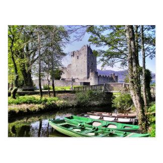 Postal de Killarney del castillo de Ross