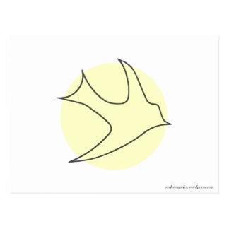 Postal de Knightingales (amarillo)