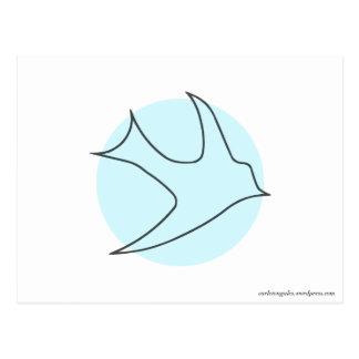 Postal de Knightingales azul