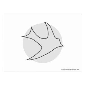 Postal de Knightingales (gris)