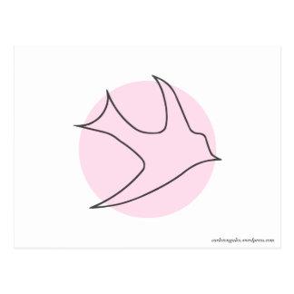 Postal de Knightingales rosa