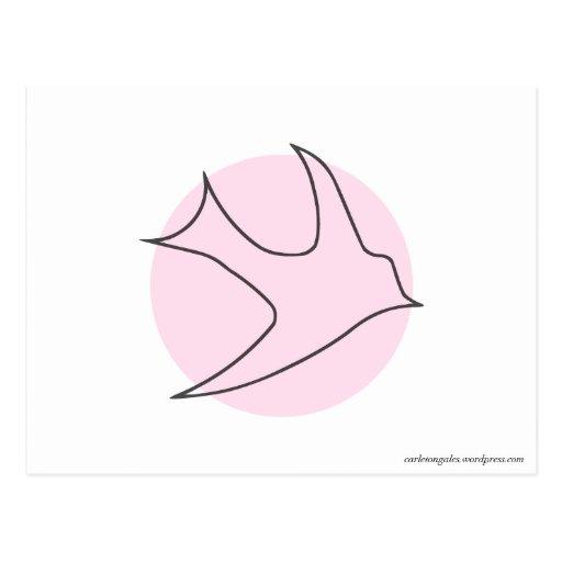 Postal de Knightingales (rosa)