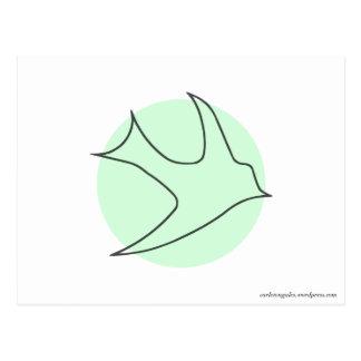 Postal de Knightingales verde