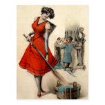 Postal de Krampus victoriana vintage