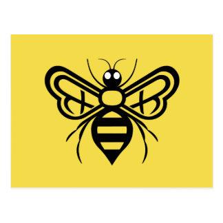 Postal de la abeja de la miel