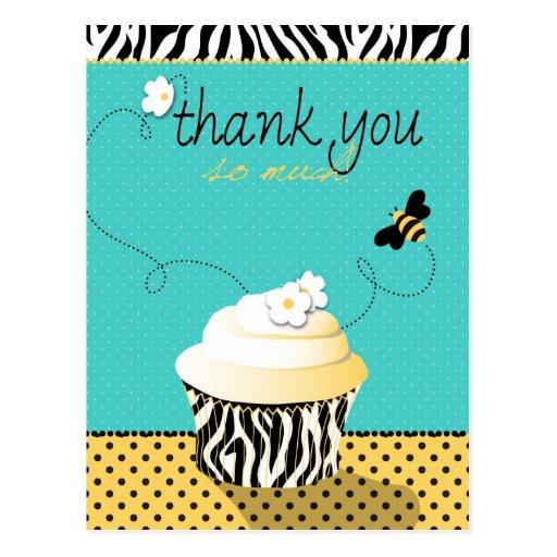 Postal de la abeja TY del cumpleaños