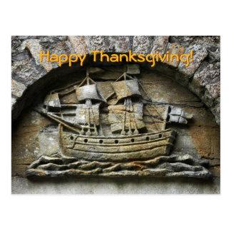 postal de la acción de gracias