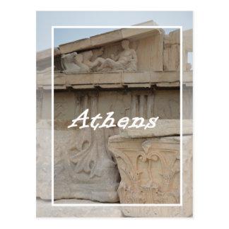 Postal de la acrópolis de Atenas