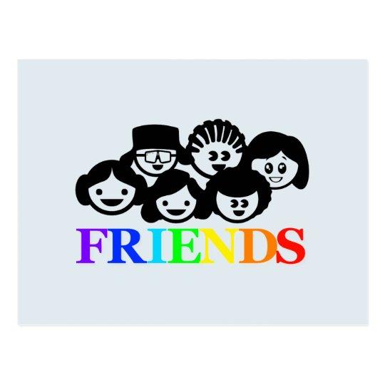 """Postal de la amistad de los """"amigos"""""""