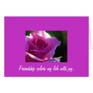 Postal de la amistad felicitación