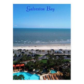 Postal de la bahía de Galveston