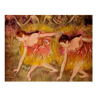 Postal de la bailarina de Edgar Degas