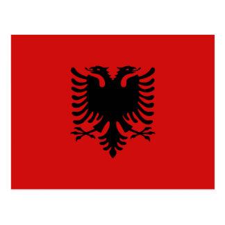 Postal de la bandera de Albania