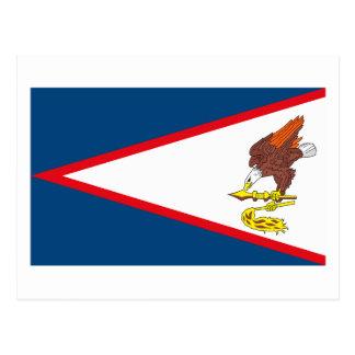 Postal de la bandera de American Samoa