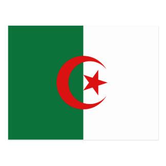 Postal de la bandera de Argelia