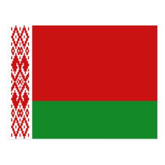 Postal de la bandera de Bielorrusia