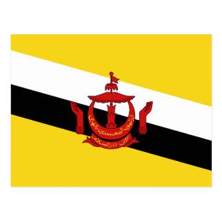 Postal de la bandera de Brunei