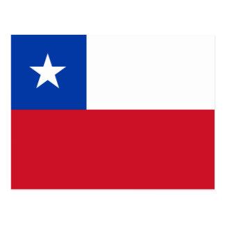 Postal de la bandera de Chile