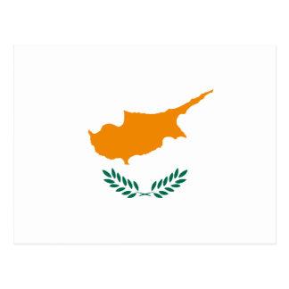 Postal de la bandera de Chipre