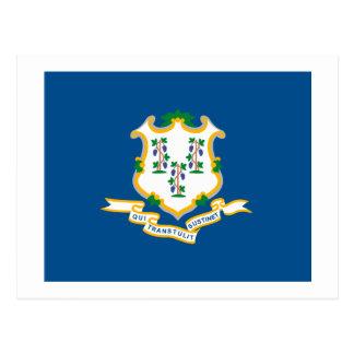 Postal de la bandera de Connecticut
