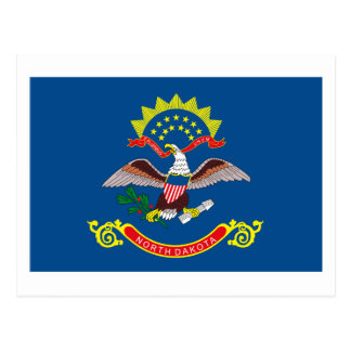 Postal de la bandera de Dakota del Norte