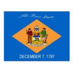Postal de la bandera de Delaware