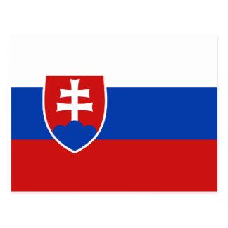 Postal de la bandera de Eslovaquia