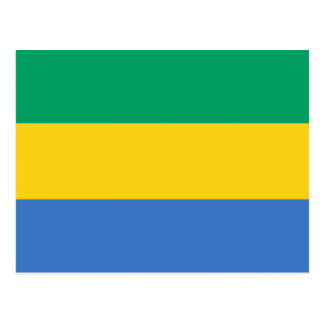 Postal de la bandera de Gabón