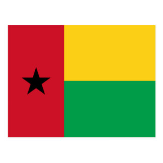 Postal de la bandera de Guinea-Bissau
