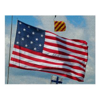 Postal de la bandera de la estrella de los E.E.U.U