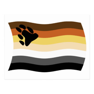 Postal de la bandera de la fraternidad del oso