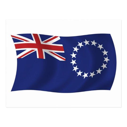 Postal de la bandera de las islas de cocinero