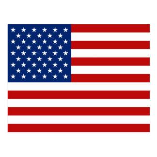 Postal de la bandera de los E E U U