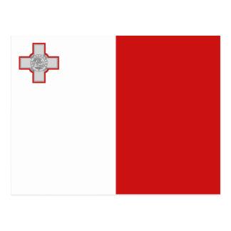 Postal de la bandera de Malta