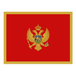 Postal de la bandera de Montenegro