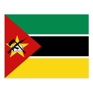 Postal de la bandera de Mozambique