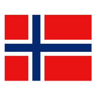 Postal de la bandera de Noruega