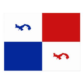 Postal de la bandera de Panamá