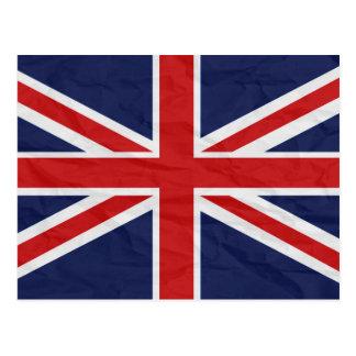Postal de la bandera de Reino Unido Union Jack