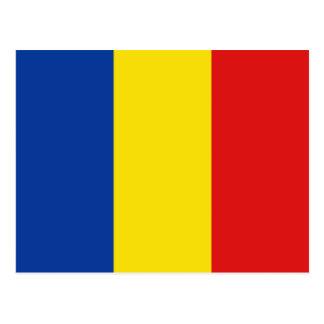 Postal de la bandera de Rumania