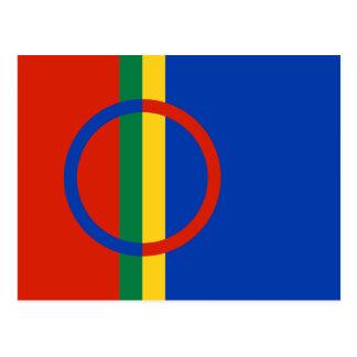 Postal de la bandera de Sami