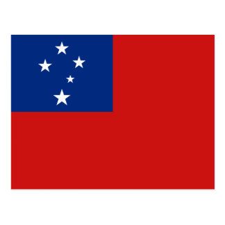 Postal de la bandera de Samoa