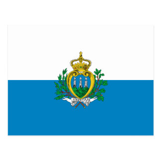 Postal de la bandera de San Marino