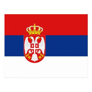 Postal de la bandera de Serbia