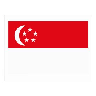 Postal de la bandera de Singapur